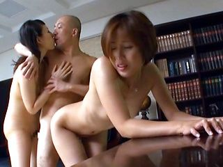 Satsuki Kirioka, Sorami Haga very naughty Asian maids