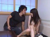 Lovely Riona Kizaki enjoying solo pantyhose masturbation