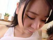 Asian Riko Komori gets nasty during hardcore cock ride
