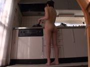 Busty Airi Suzumura gets horny in the kitchen