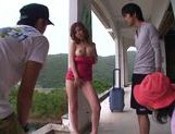Sultry Erika Kitagawa Gives A Blowjob And Tit Fuck Outdoors picture 12