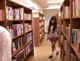 Kinky Japanese schoolgirl Mizuki Hinano screwed by two guys
