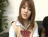 Risa Tsukino Asian model is a hot schoolgirl