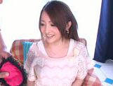 Sensuous Japanese girl Yui Sasaki gets her pink kitty drilled picture 2