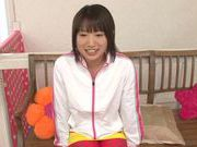 Teen gal with small tits Seri Akina enjoys doggie fucking