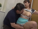 Busty Japanese seductress Naho Hazuki deepthroats a massive guycute asian, asian anal}