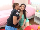 Playful Japanese AV teen girl Yua Saiki enjoys being impaled on cock picture 13