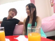 Playful Japanese AV teen girl Yua Saiki enjoys being impaled on cock