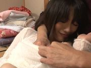 Fantastic Japanese teen with candy butt gets drilled
