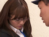 Slim Rukawa Rina is being made to suck and swallow