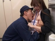 Slim Rukawa Rina is being made to suck and swallowasian sex pussy, japanese pussy}