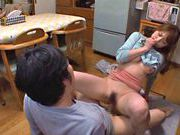 Akiho Yoshizawa gets fucked in the kitchenasian babe, fucking asian}