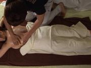 Hot looking girl Mayuka Okada busty babe massage