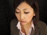 Yuna Shiratori sucks and swallows like a true pro
