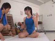 Sugary Asian AV girl Tsubomi gets teased by throbbing dick