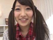 Adorable Japanese cutie Risa Itou enjoys a huge facial
