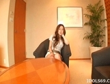 Hikari Kirishima Horny Asian babe Is Getting Her Hairy Pussy Poked picture 12