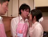 Cooking show turns to hardcore threesome banging picture 11
