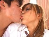 Japanese AV model is a schoolgirl who enjoys a rear fuck