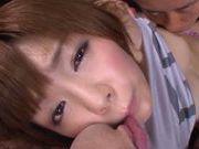 Mayu Nozomi Asian babe gives an amazing blowjob!