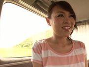 Chubby Asian Reiko Nakamori masturbating her wet twat