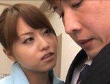 Akiho Yoshizawa Asian hottie gets a faceful of cum picture 12
