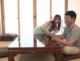 Slender Asian milf Akiho Yoshizawa sucks and gets pounded picture 3