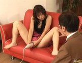Riko Tachibana Asian gal has lesbian fun with a companion