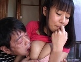 Busty Shiori Tsukada Asian teen gets nasty on a fat dongjapanese porn, fucking asian}