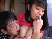 Busty Shiori Tsukada Asian teen gets nasty on a fat dongasian sex pussy, asian babe}