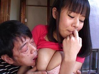 Busty Shiori Tsukada Asian teen gets nasty on a fat dong