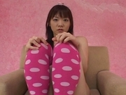 Shoko Yokoy Asian girl pokes her pussy with a dildo