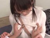 Luscious amateur Mao Kurata enjoys titty fucking POV picture 11