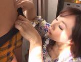 Hot milf Ayaka Tomoda hot doggystyle with cum in her mouth