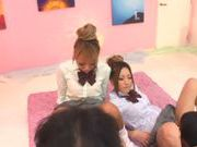 Nasty japanese Aika Reika loves to share in threesome