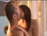 Mai Uzuki Asian beauty gets cum on titties after a hard fucking