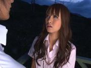 Outdoor cock sucking with Kotomi Asakura