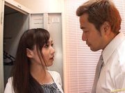 Reona Kanzaki Asian beauty gives an amazing blowjob in the locker room