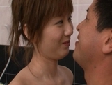 Yuma Asami Sweet Asian model enjoys her bathroom with a friend