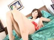 Yuma Asami Asian doll has her sexy lingerie on