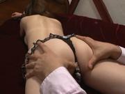 Busty Nao Fujimoto adores dick riding and giving blowjob