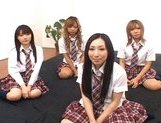 Japanese V models have fun with an orgy picture 2