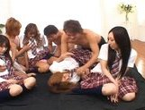 Japanese V models have fun with an orgy picture 5