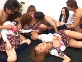 Japanese V models have fun with an orgy picture 9
