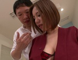 Busty milf Ruri Saijo gets fucked hard by a horny massage therapist picture 15