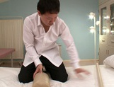 Busty milf Ruri Saijo gets fucked hard by a horny massage therapist picture 1