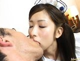 Japanese AV model rides a large cock picture 2