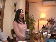 Superb japanese hottie gets nailed in the kitchen