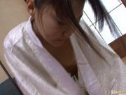 Miho Kanda Asian doll sucks her boyfriends cock