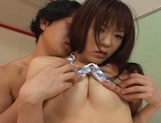 Shoko Yokoy Lovely Asian doll gives excellent blowjobs and likes rear fucking picture 12